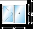 Afmeting 250 x 150cm (BxH)