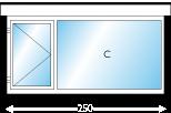 Afmeting 350 x 150cm (BxH)