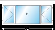 Afmeting 450 x 150cm (BxH)